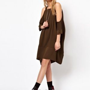ASOS Swing Dress with Strap Cold Shoulder